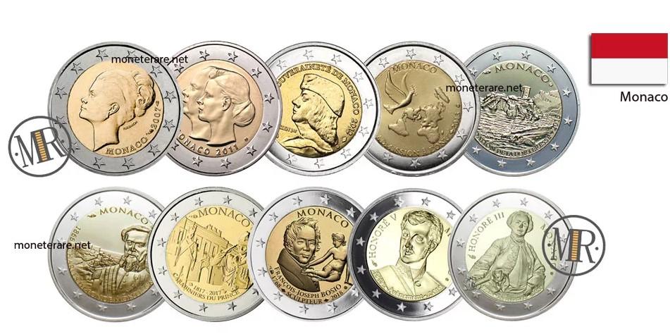 2 Euro Monaco Commemorative Coins