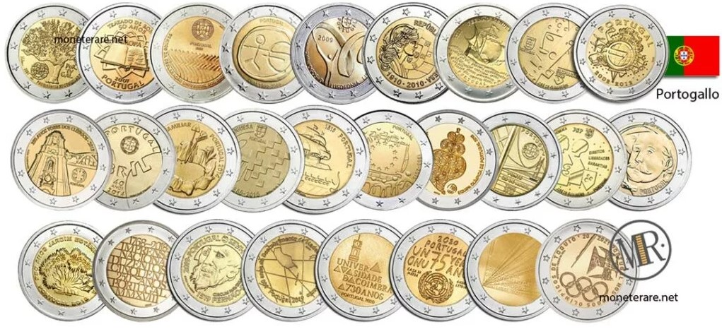 2 Euro Portugal Commemorative Coins