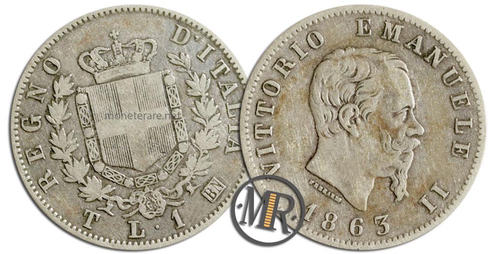 1 Lira Vittorio Emanuele II -Stemma