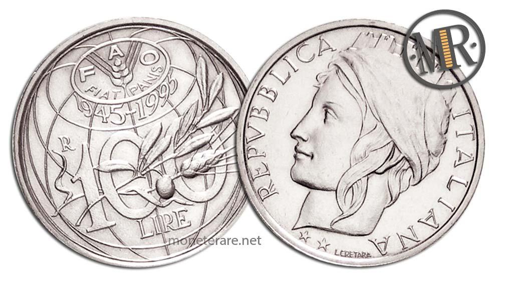 100 Lire Anniversario FAO 1995
