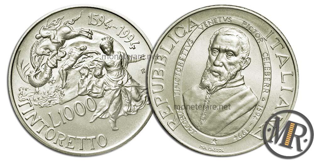 1000 Lire 1994 Jacopo Tintoretto