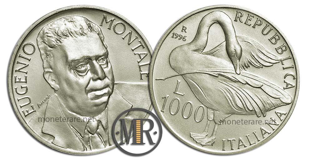 1000 Lire 1996 Eugenio Montale