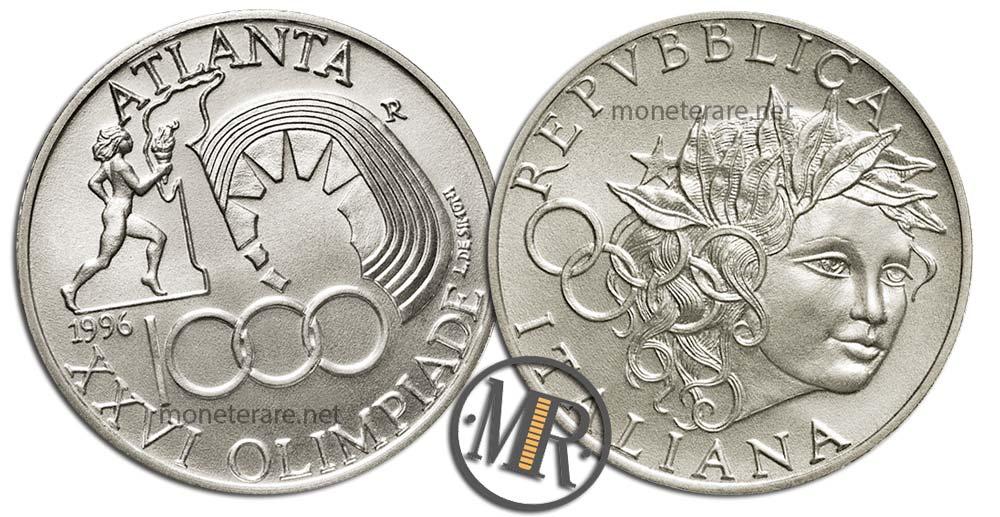 1000 Lire 1996 Olimpiadi Atlanta