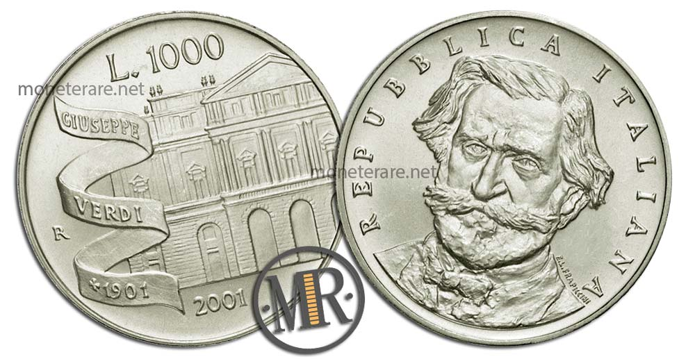 1000 Lire 2001 Giuseppe Verdi