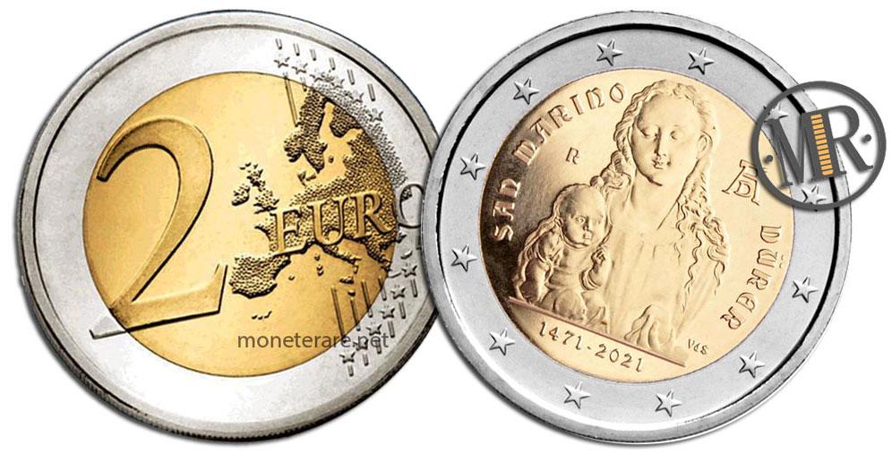 2 Euro San Marino 2021 Coin - Albrecht Dürer
