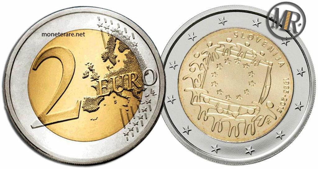 2 Euro Commemorativi Slovenia 2015 Bandiera