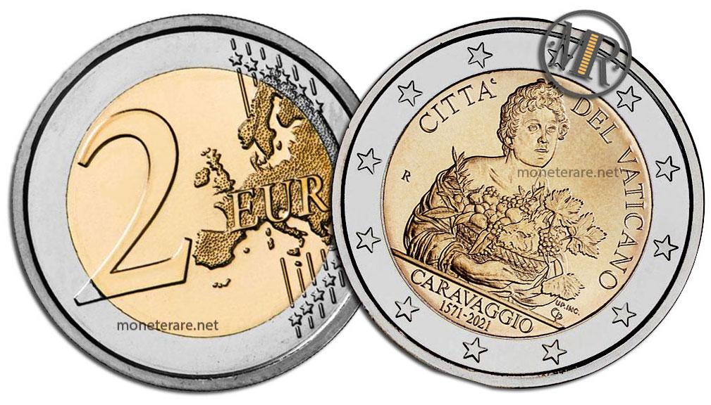2 Euro Commemorativi Vaticano 2021 Caravaggio