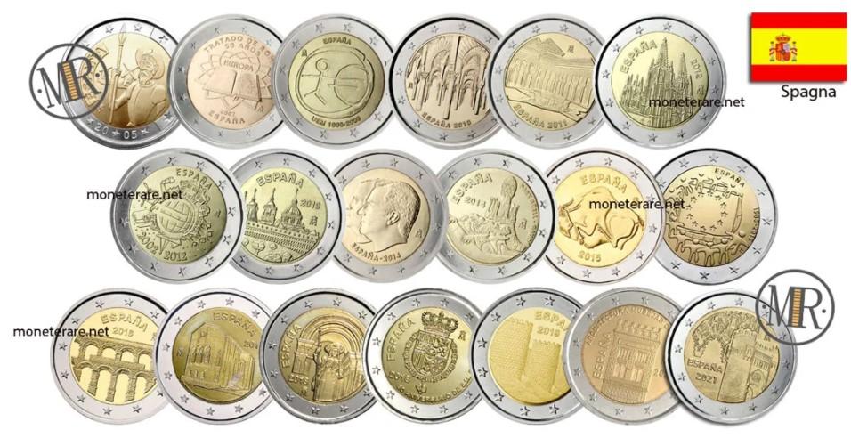 2 Euro Spain Commemorative Coins
