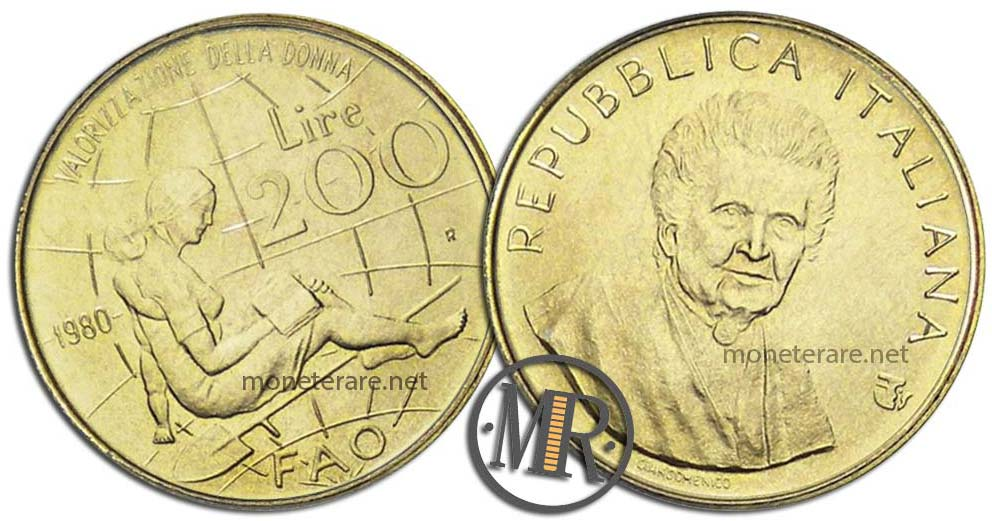 200 Lire 1980 FAO