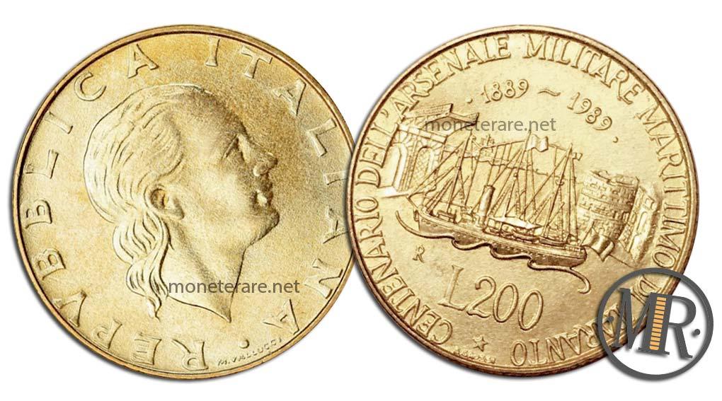 200 lire 1989 Arsenale di Taranto