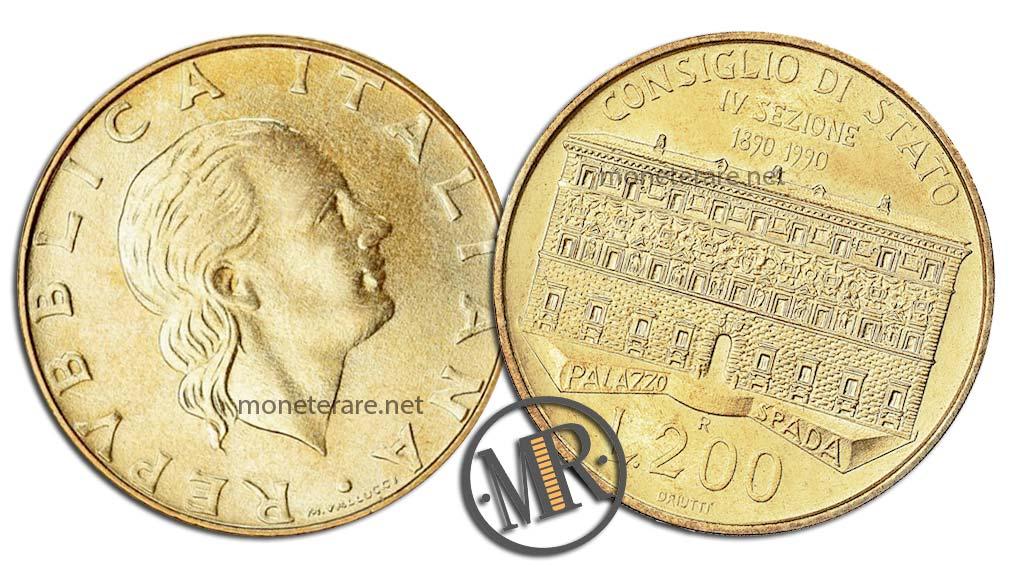 200 lire 1990 Consiglio di Stato