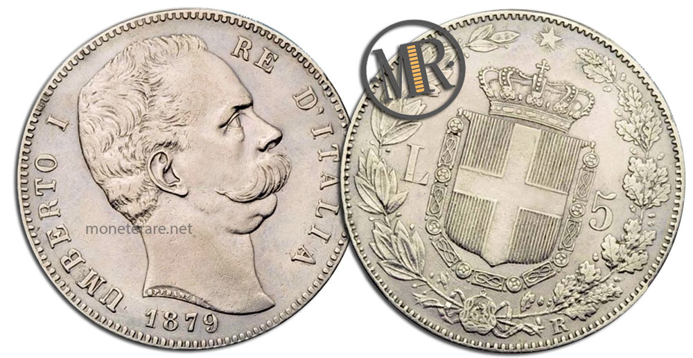 5 Lire Coins Umberto I