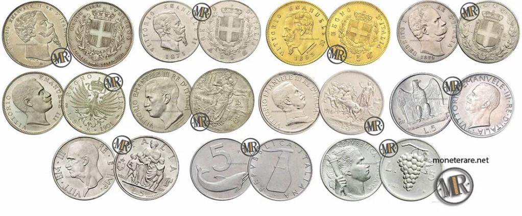 5 lire coins italian value