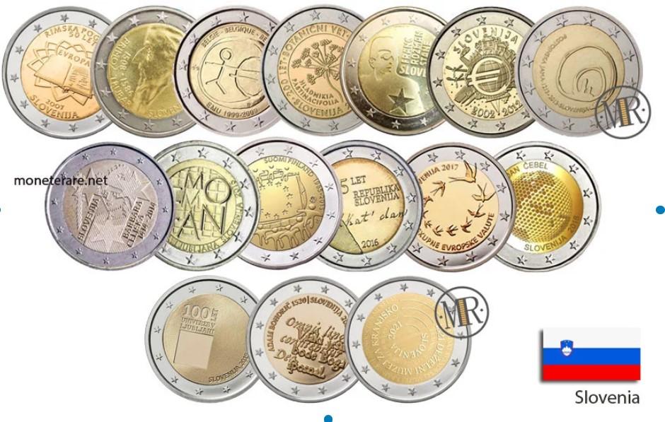 Slovene Commemorative 2 Euro Coins